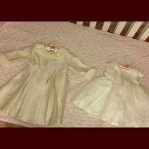 Gorgeous 2 Piece Silver & White Holiday Outfit